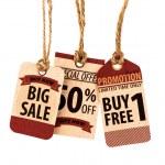 Sale Coupon, voucher, tag. Vintage Style — Stock Photo #51781755