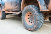 Muddy wheel — Stock Photo