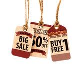 Sale Coupon, voucher, tag. Vintage Style — Stock Photo