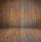 Empty old wooden interior with back defocus for your design — Stock Photo