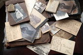 Old photos, postcards and letters. — Stock Photo