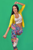 Girl in sports. Fitness lady. Zumba fitness. — Fotografia Stock