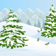 Stock Vector: Winter background
