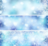 3 Christmas banners — Stock Vector