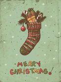 Calcetín de la navidad — Vector de stock