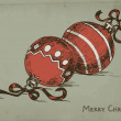 Hand drawn Christmas baubles — Imagen vectorial