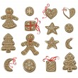 Stock Vector: Christmas cookies