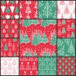 Stock Vector: 13 Christmas patterns