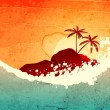 Tropical sea and island — Stock Vector #19558957
