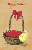 Hand -drawn Easter card — Vetor de Stock