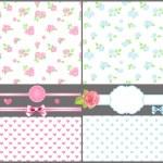 conjunto de color rosa y azul — Vector de stock  #24629453