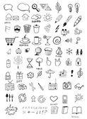Icone di doodle — Vettoriale Stock