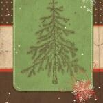 Fir tree scrapbook card — Stock Vector #29989543