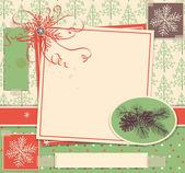 クリスマスのスクラップ ブック — ストックベクタ