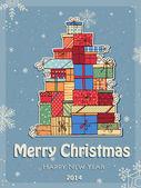 Vánoční dárky — Stock vektor