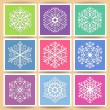 Snowflakes cards — Stock Vector
