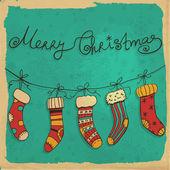 Vánoční ponožky — Stock vektor