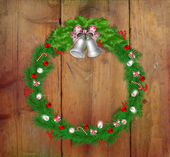 Christmas wreath — Vettoriale Stock
