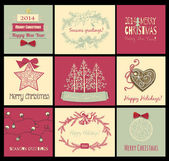 Christmas cards — Stockvektor