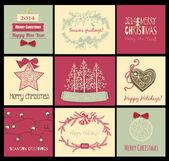 Noel kartları — Stok Vektör