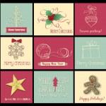 9 Christmas cards — Stock Vector