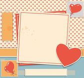Valentine day card — Stockvector