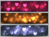 Valentine day banners — Stock Vector