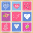 Valentine day cards — Stock Vector
