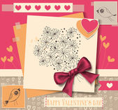 Valentine day card — Vettoriale Stock