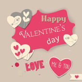 Valentine dag kaart — Stockvector