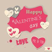 Valentine den karta — Stock vektor