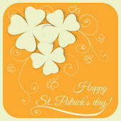 St. Patrick day card — Vector de stock