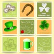 St. Patrick day cards — Stock Vector