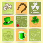 St. Patrick day cards — Vettoriale Stock