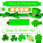 St. Patrick day elements — Vector de stock