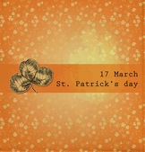 St. Patrick day card — Vecteur