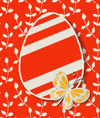 Red Easter egg — Stock Vector