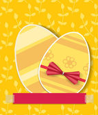 Two Easter eggs — Vector de stock