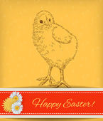 Easter chicken  — Vector de stock