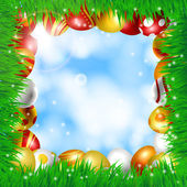 Frame of Easter eggs — Stock Vector