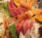 Closeup photo of a delicious sashimi dish — Stock Photo