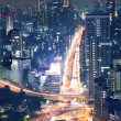 Night view of Tokyo cityscape - Stock Photo