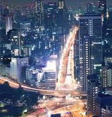 Tokyo cityscape gece manzarası — Stok fotoğraf