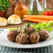 Meatballs stewed with vegetables — Foto de Stock