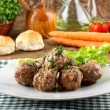 Meatballs stewed with vegetables — Stok fotoğraf