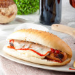 Sandwich with Wurstel — Stock Photo #13911891