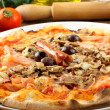 Italian Pizza Capricciosa — Stock Photo