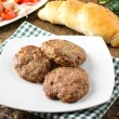 Royalty-Free Stock Photo: Meatballs served with inslata