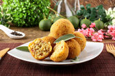 Arancini rice and meat — Stock Photo
