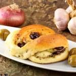 Tasty baked bun — Stock Photo #21559275